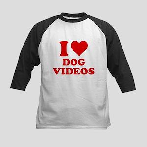 I Love Dog Videos Kids Baseball Jersey