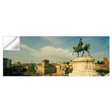 View of a city from a monument, Vittorio Emmanuel  Wall Decal
