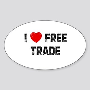 I * Free Trade Oval Sticker