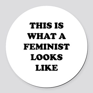 This Is What A Feminist Looks Like Round Car Magne