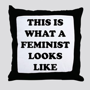 This Is What A Feminist Looks Like Throw Pillow