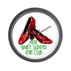 Ruby Slipper Fan Club Wall Clock