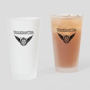 Team Free Will Shirt Drinking Glass