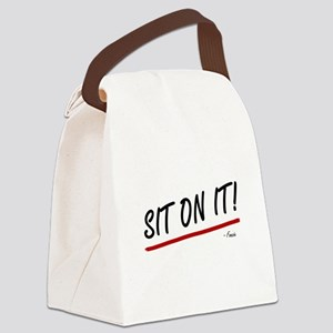 'Sit On It!' Canvas Lunch Bag