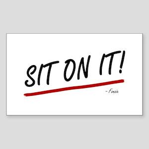 'Sit On It!' Sticker (Rectangle)