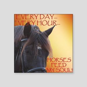 Horses feed my soul Sticker