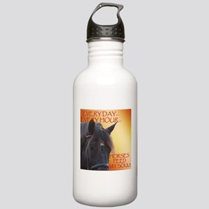 Horses feed my soul Water Bottle