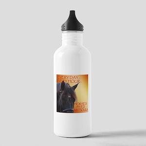 Horses feed my soul Water Bottle