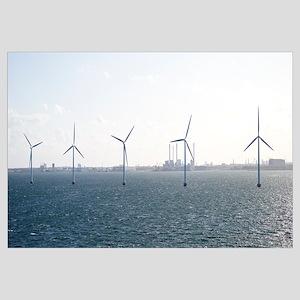 Wind turbines in the sea, Copenhagen, Denmark