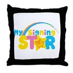 My Signing Star Throw Pillow