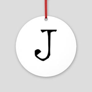 Acoustic Monogram I Ornament (Round)