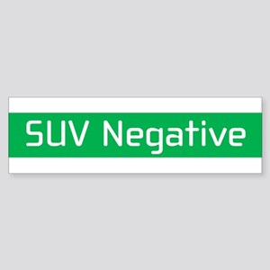SUV Negative Bumper Sticker