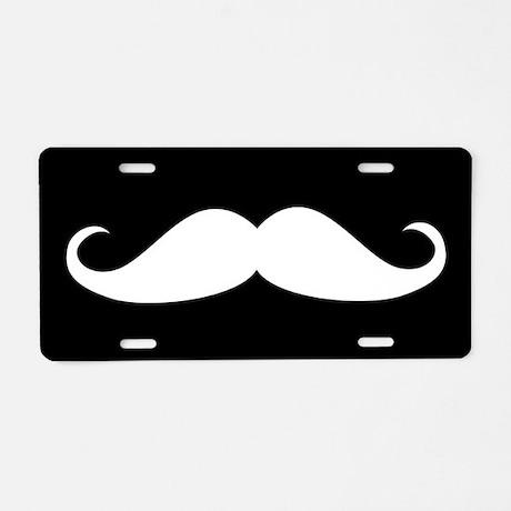 Mustache Aluminum License Plate