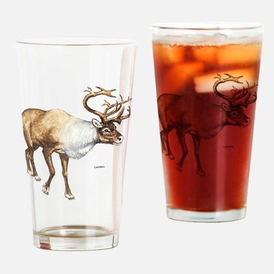 Caribou Animal Drinking Glass
