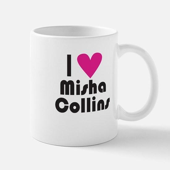 I Love Misha Collins (Pink Heart) Mug