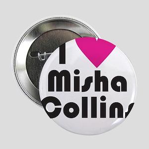 "I Love Misha Collins (Pink Heart) 2.25"" Button"