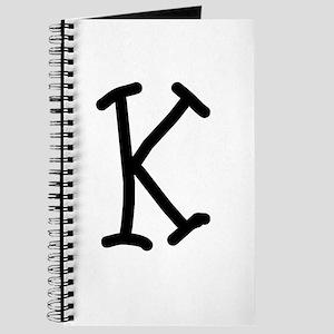 Bookworm Monogram K Journal