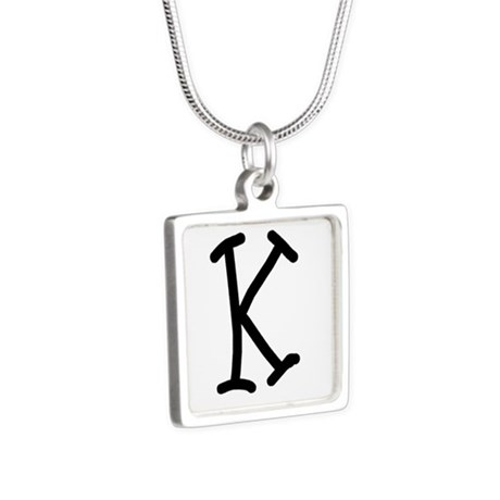 Bookworm Monogram K Necklaces
