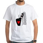 White T-Shirt - Pony Pump w/Logo