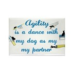 Agility Dance Rectangle Magnet (100 pack)