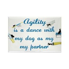 Agility Dance Rectangle Magnet