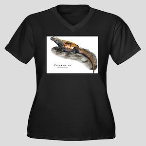 Chuckwalla Women's Plus Size V-Neck Dark T-Shirt