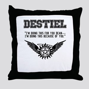 Destiel Quote Series #3 Throw Pillow