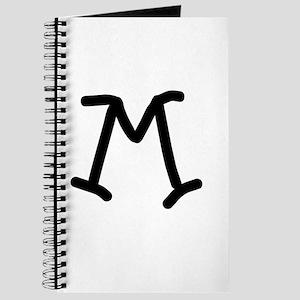 Bookworm Monogram M Journal