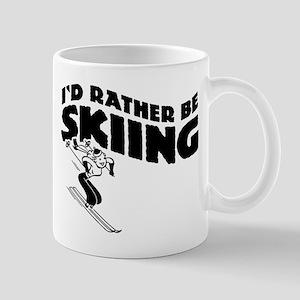 I'd Rather be skiing (female) Mug
