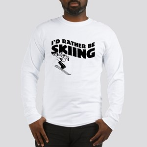 I'd Rather be skiing (female) Long Sleeve T-Shirt