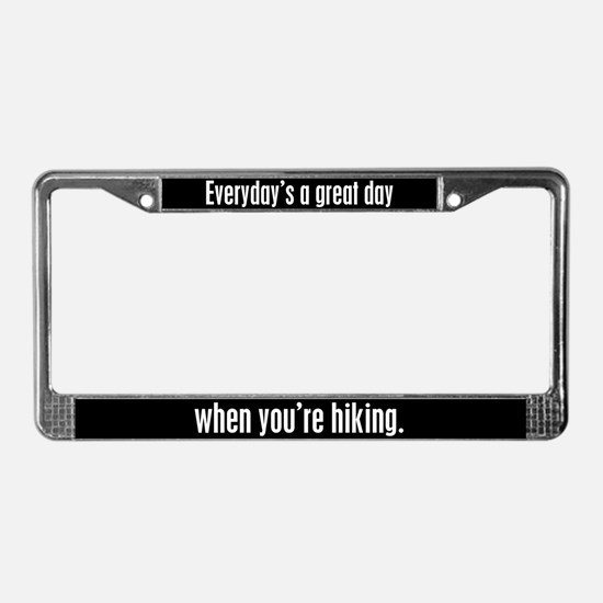 Hiking License Plate Frame