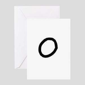 Bookworm Monogram O Greeting Card