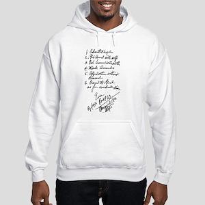 Bill W handwritten first steps Hooded Sweatshirt