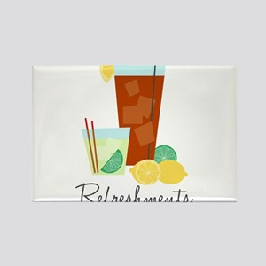 Refreshments Rectangle Magnet