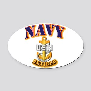 NAVY - CPO - Retired Oval Car Magnet