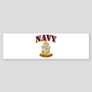 NAVY - CPO - Retired Sticker (Bumper)