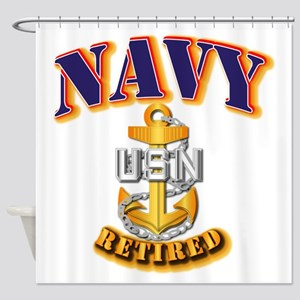 NAVY - CPO - Retired Shower Curtain