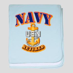 NAVY - CPO - Retired baby blanket