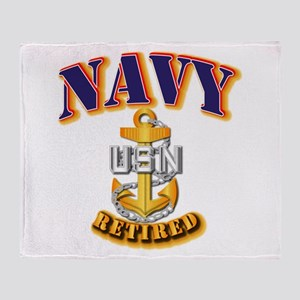 NAVY - CPO - Retired Throw Blanket