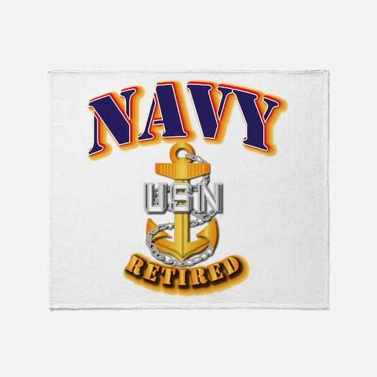 NAVY - CPO - Retired Throw Blanket