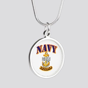 NAVY - CPO - Retired Silver Round Necklace