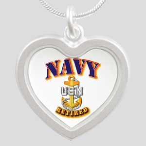 NAVY - CPO - Retired Silver Heart Necklace