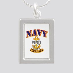 NAVY - CPO - Retired Silver Portrait Necklace