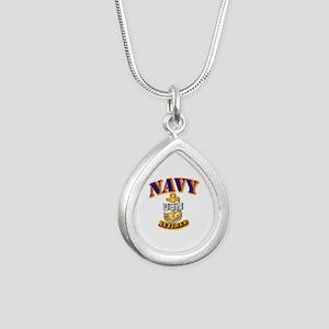 NAVY - CPO - Retired Silver Teardrop Necklace