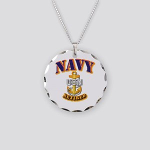 NAVY - CPO - Retired Necklace Circle Charm