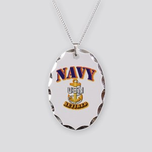 NAVY - CPO - Retired Necklace Oval Charm