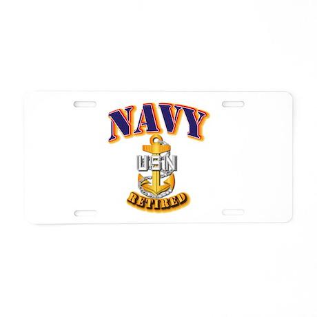 NAVY - CPO - Retired Aluminum License Plate