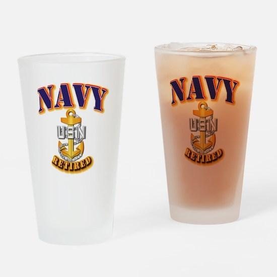 NAVY - CPO - Retired Drinking Glass