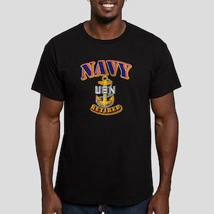 NAVY - CPO - Retired Men's Fitted T-Shirt (dark)