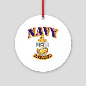 NAVY - CPO - Retired Ornament (Round)